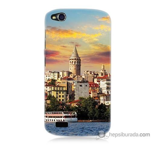 Bordo General Mobile Discovery Kapak Kılıf İstanbul Galata Baskılı Silikon
