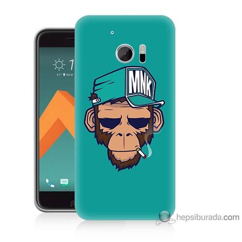 Bordo Htc 10 Kapak Kılıf Sakallı Maymun Baskılı Silikon
