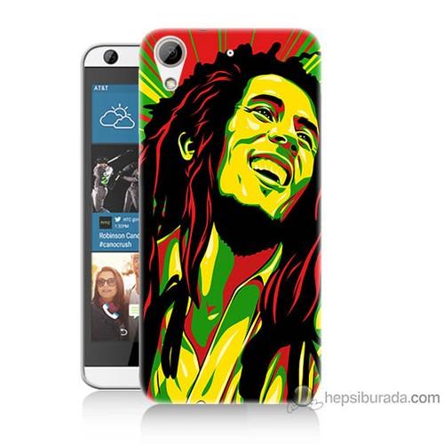 Bordo Htc Desire 626 Kapak Kılıf Bob Marley Baskılı Silikon