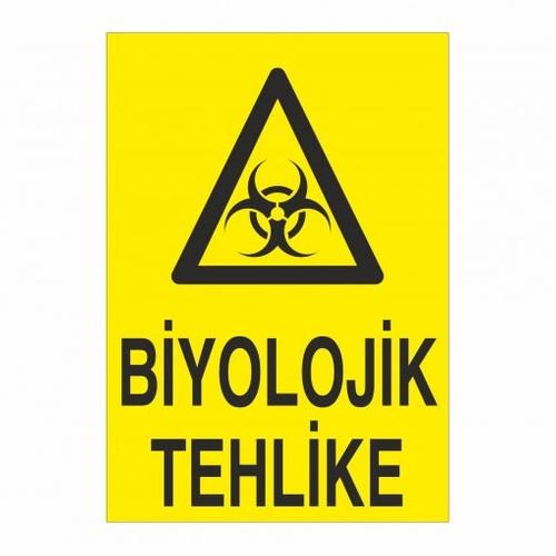 """Modülerteknik """"Biyolojik Tehlike"""" 25X35cm"""