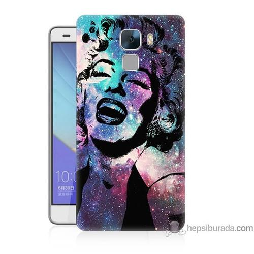 Bordo Huawei Honor 7 Kapak Kılıf Marilyn Monroe Baskılı Silikon