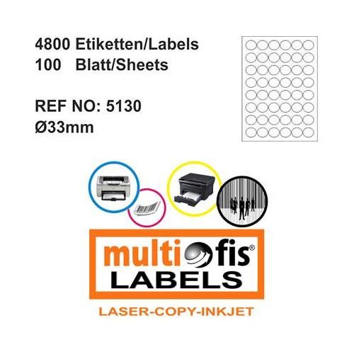 Multiofis 30 Mm Laser Etiket 5130