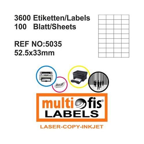 Multiofis 52,5X33 Mm Laser Etiket 5035