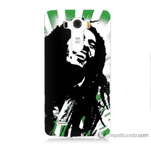 Bordo Lg G3 Kapak Kılıf Bob Marley Soft Baskılı Silikon