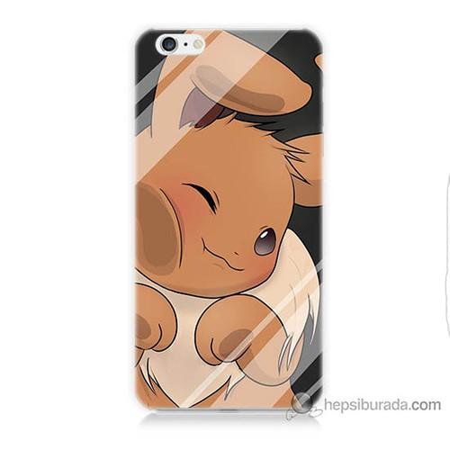 Bordo iPhone 6s Plus Kapak Kılıf Pokemon Baskılı Silikon