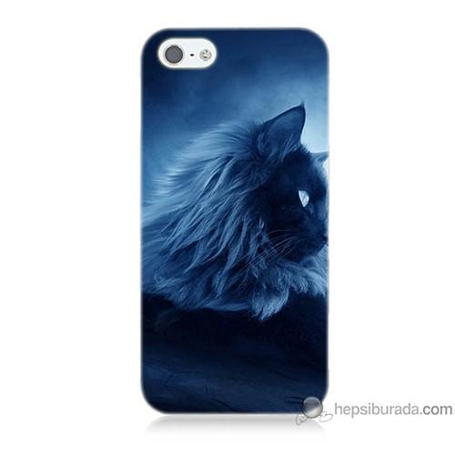 Bordo iPhone 5 Kapak Kılıf 3D Kedicik Baskılı Silikon