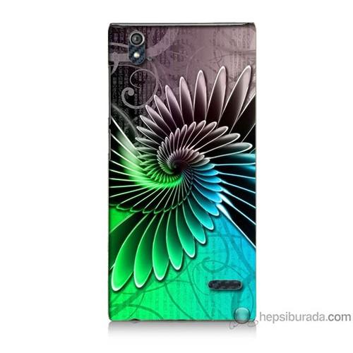 Bordo Turkcell T50 Kapak Kılıf Renkli Kanatlar Baskılı Silikon