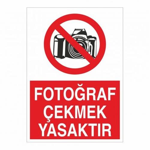 """Modülerteknik """"Fotoğraf Çekmek Yasaktır"""" 25X35cm"""