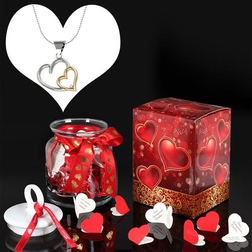 Chavin Pırlanta Gümüş Kolye,Seni Seviyorum Aşk Mesajları yb01kv