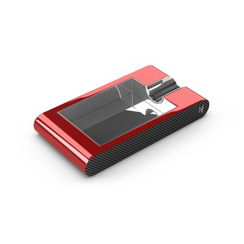 HF Özel Ahşap Kırmızı Puro Küllüğü hs59