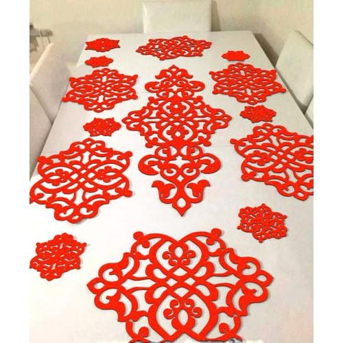 WALLS Home CollectionKeçe Servis Takımı-Kırmızı