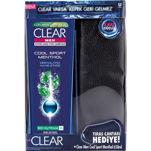 Clear Men Cool Sport Menthol 650 ml copack