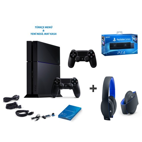 Sony Playstation 4 500 Gb Oyun Konsolu + 2. Kol + Ps4 Kamera + Ps4 7.1 Kablosuz Kulaklık