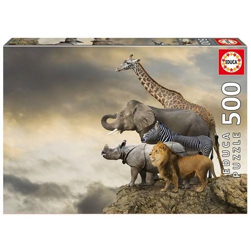 Educa 500 Parça Uçurumun Kenarında Hayvanlar Puzzle
