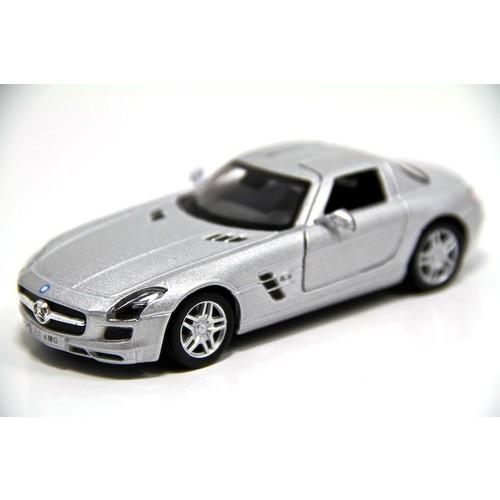 Mercedes Benz SLS AMG (Gri) 1:36 Oyuncak Çek Bırak Araba