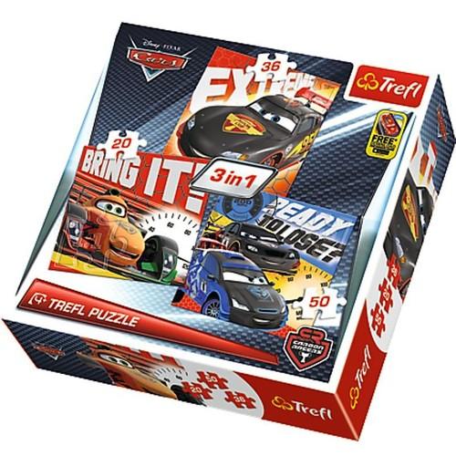 20+36+50 Parça Mix Puzzle (Cars Şampiyonlar)