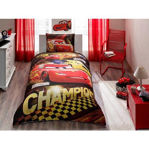 Taç Lisanslı Tek Kişilik Nevresim takımı Dısney Cars Champıon