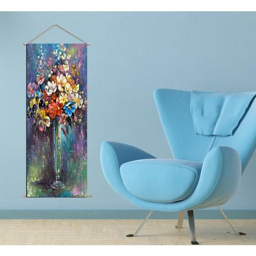 K Dekorasyon Kcas1014 Askılı Kanvas Poster - 30X90 Cm