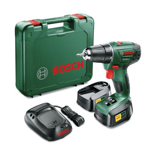 Bosch PSR 1800 LI-2 Çift Akülü Vidalama Delme 18 Volt 1.5 Ah