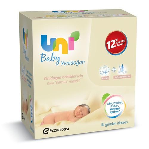 Uni Baby Yenidoğan Islak Mendil 12'li 30352