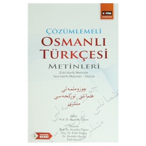 Çözümlemeli Osmanlı Türkçesi Metinleri