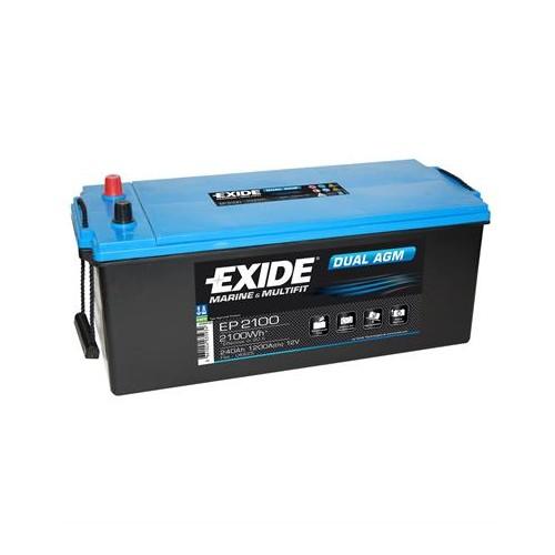 Exide EP2100 12 Volt 240 Amper Solar AGM Akü