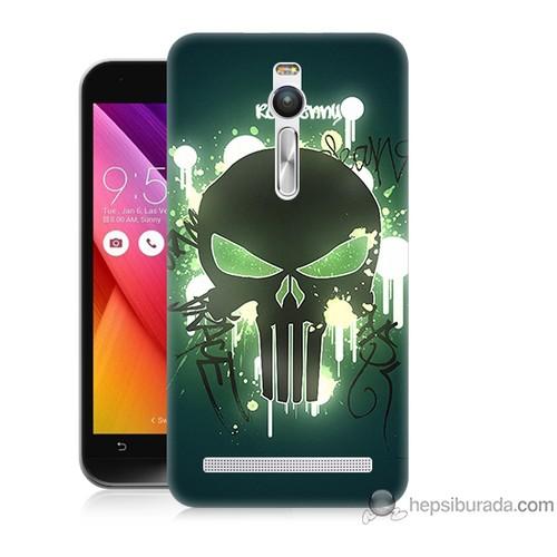 Teknomeg Asus Zenfone 2 Kapak Kılıf Punisher Baskılı Silikon