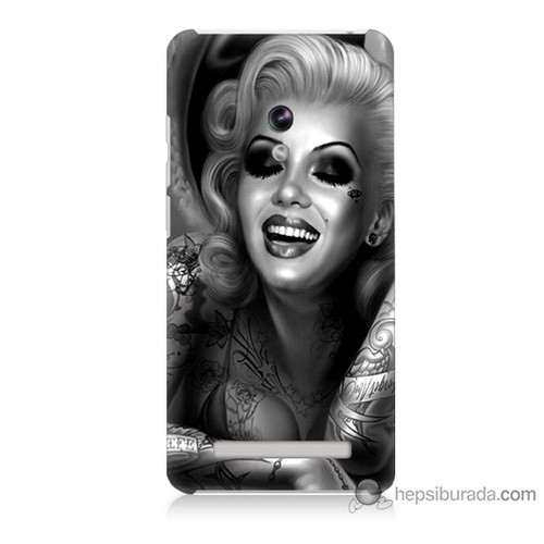 Teknomeg Asus Zenfone 5 Kapak Kılıf Marilyn Monroe Baskılı Silikon
