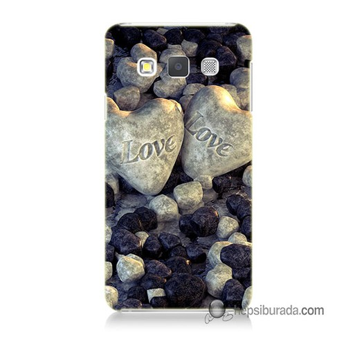 Teknomeg Samsung Galaxy A7 Kapak Kılıf Love Baskılı Silikon