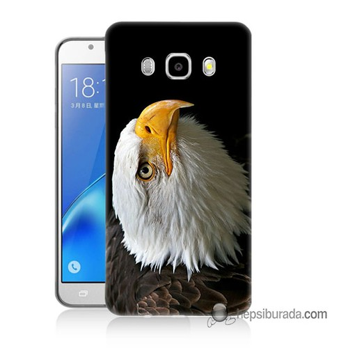 Teknomeg Samsung Galaxy J7 2016 Kapak Kılıf Eagle Baskılı Silikon