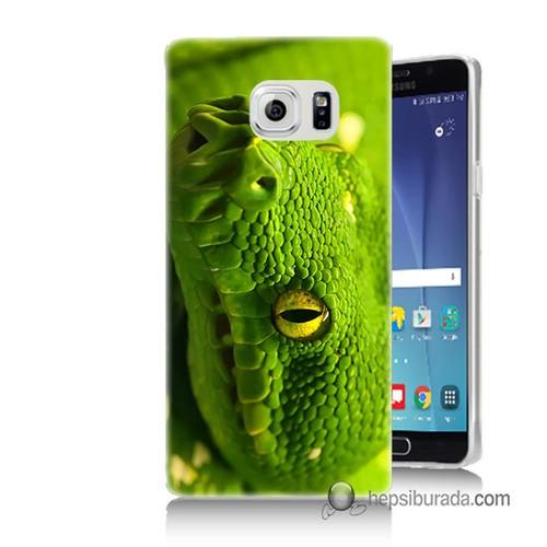 Teknomeg Samsung Galaxy Note 5 Kapak Kılıf Yılan Baskılı Silikon