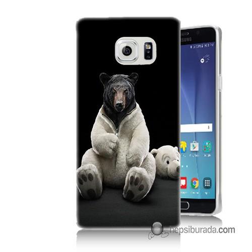 Teknomeg Samsung Galaxy Note 5 Kapak Kılıf Kostümlü Ayı Baskılı Silikon