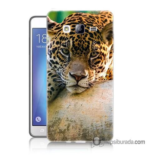 Teknomeg Samsung Galaxy On 7 Kapak Kılıf Leopar Baskılı Silikon