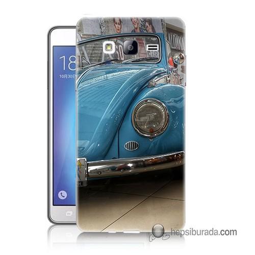 Teknomeg Samsung Galaxy On 7 Kapak Kılıf Mavi Vosvos Baskılı Silikon