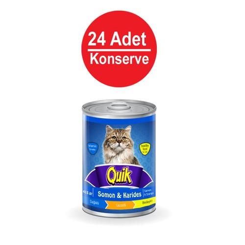 415 Gr X 24 Adet Quik Somonlu-Karidesli Kedi Konservesi