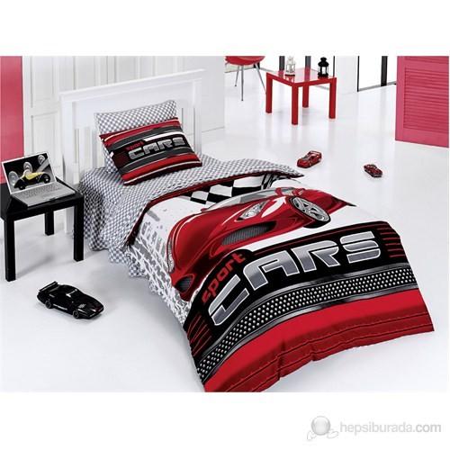 Belenay Tek Kişilik Uyku Seti Sport Cars Kırmızı