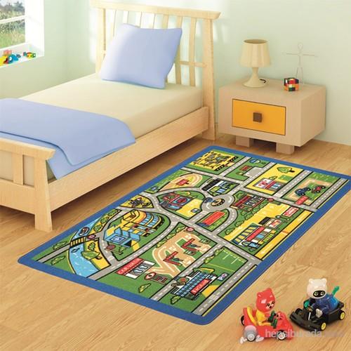 Confetti Traffic 100X150 Cm Mavi Çocuk Halısı