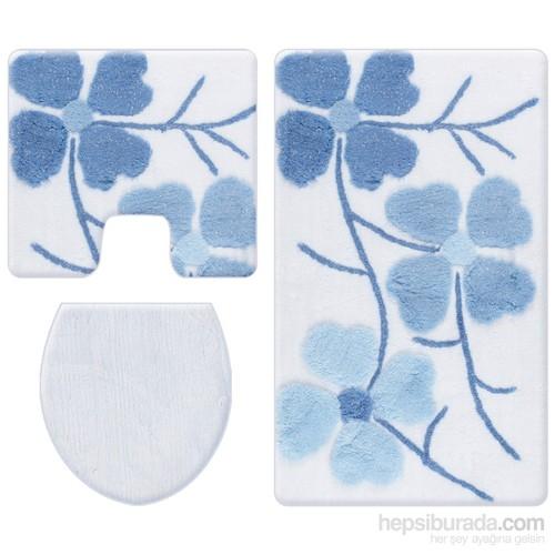 Alessia Simli 3 Parça Klozet Takımı-Kırçiçeği Mavi