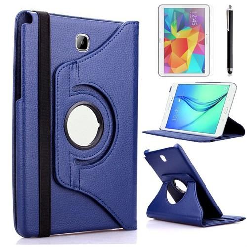 Kılıfland Samsung Galaxy Tab A T550 Kılıf 360 Standlı Lacivert+Film+Kalem
