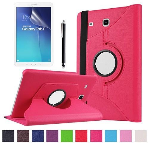 Kılıfland Samsung Galaxy Tab E T377 Kılıf 360 Standlı Pembe+Film+Kalem