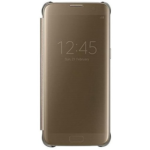 Samsung Galaxy S7 S-View Flip Cover Clear Gold - Ef-Zg930cfegus