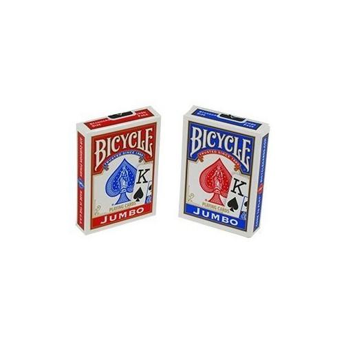 Bicycle Jumbo Index Poker İskambil Oyun Kartı Kağıdı Destesi 2'li Mavi Kırmızı