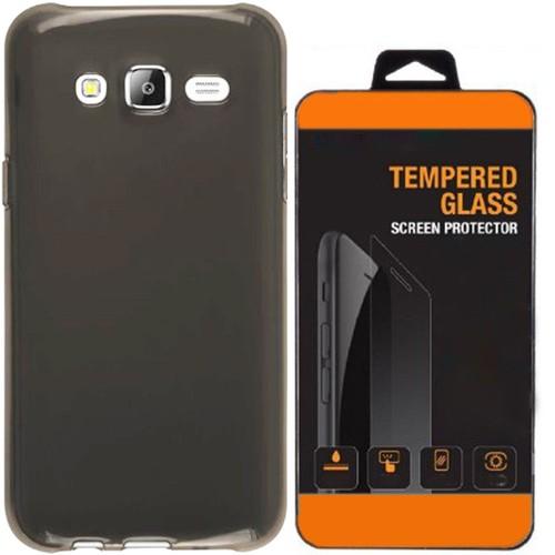 Kılıfland Samsung Galaxy Note 5 Kılıf 0.2 Silikon Siyah+Temperli Cam