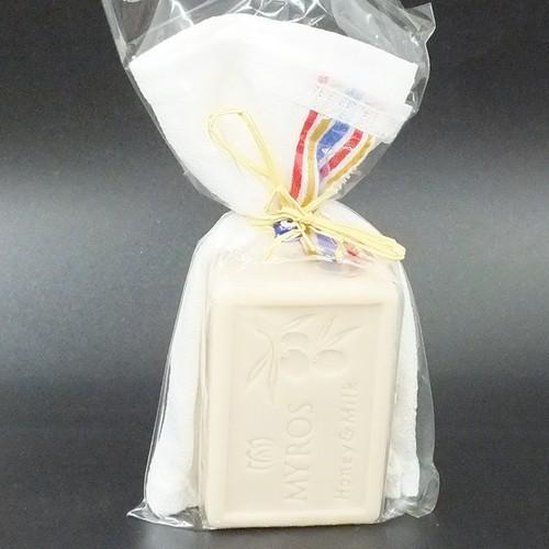 Myros Bal-Süt Özlü Zeytinyağı Sabunu - Hamam Kese Seti