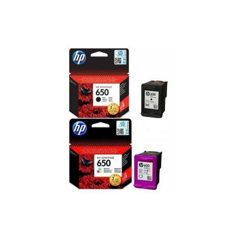 HP 650 Siyah-Renkli Kartuş Seti 1015/1515/1516/2515/2516/2545