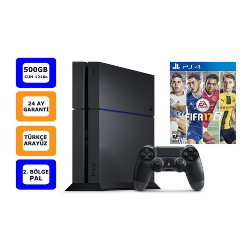 Sony Ps4 500Gb + Fifa 2017 (Cuh-1216A)