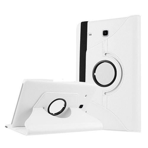Kılıfland Samsung Galaxy Tab E T377 Kılıf 360 Standlı Beyaz+Film+Kalem