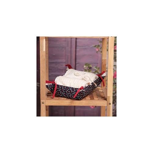 Baraka Home Flax Sepetli Organik Havlu & Lavanta Keseli Set HSS01