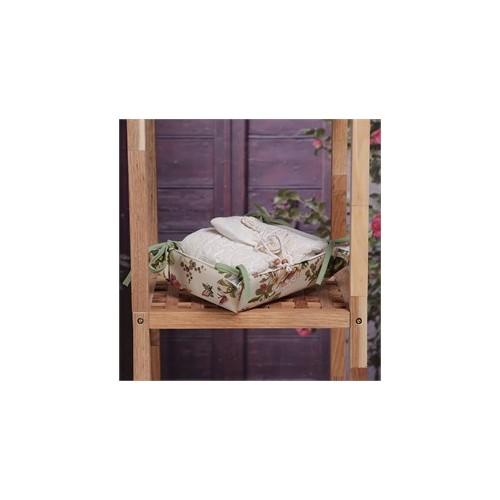 Baraka Home Flax Sepetli Organik Havlu & Lavanta Keseli Set HSS05