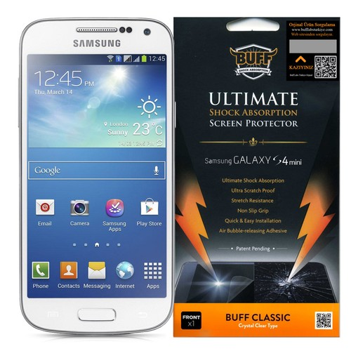 Buff Galaxy S4 Mini Darbe Emici Ekran Koruyucu